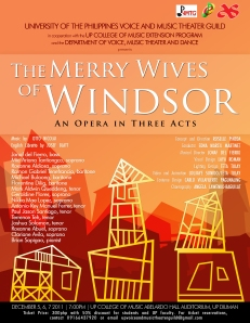 Merry Wives of Windsor Opera: December Offering by UP Voice and Music Theater Guild